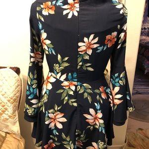 ASOS Dresses - ASOS floral bell sleeve skater dress
